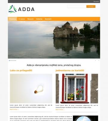 Adda – Narandžasto bijela