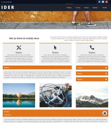 Ider – Narandžasto bijela