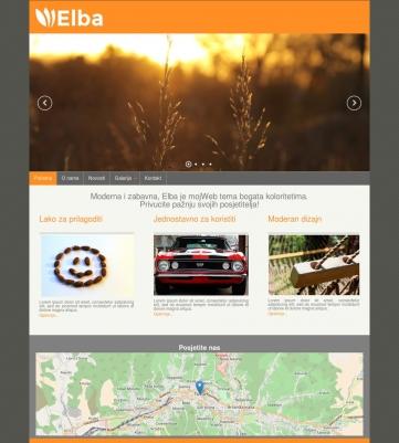 Elba – Narandžasto siva