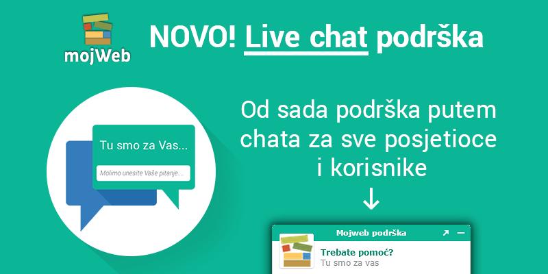NOVO! Live chat podrška!
