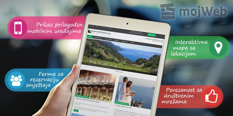 Web stranica za uspješnu turističku sezonu