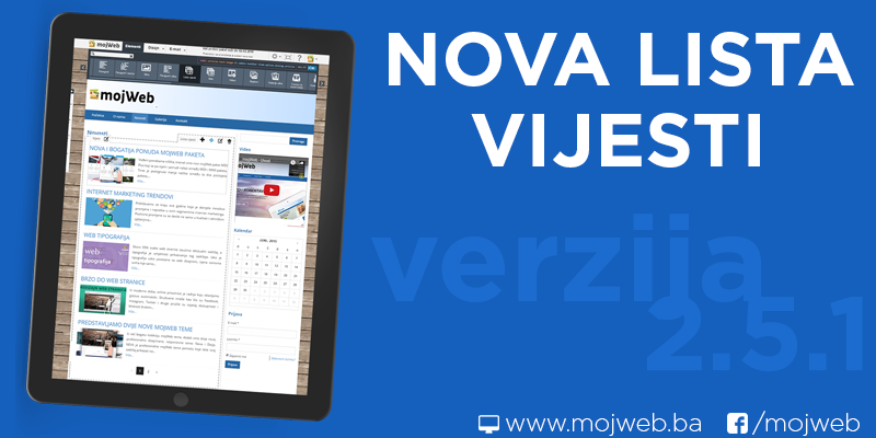 Novi element – Lista vijesti